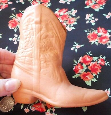 Frankoma Pottery Cowboy Boot, No. 134 Terracotta western boot vase pencil holder