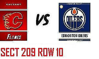 1-2 Tiks Edmonton Oilers Vs Calgary Flames Sept 29 Rogers Place Sect 209 Row 10