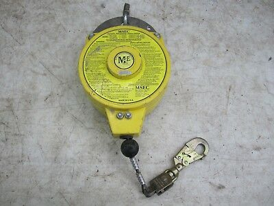 MSEC 50' retractable lifeline personal fall arrest device rated 300lb