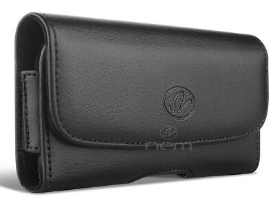 For Motorola Moto Z3 / Moto Z3 Play Leather Case Belt Clip Holster Pouch Cover