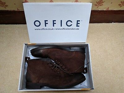 Office Cage Lace Chukka Boot BROWN WAXY SUEDE Size 10 BNIB
