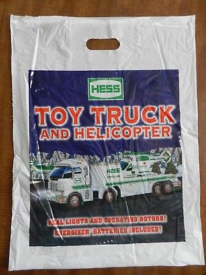 2006 Hess Toy Truck and Helicopter Bag