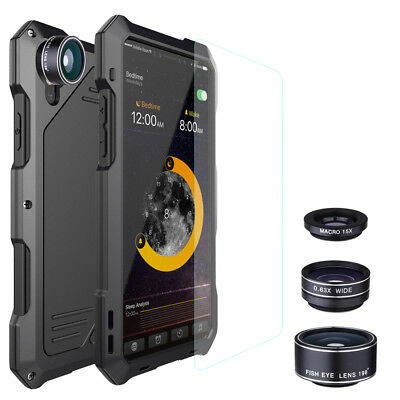 New iPhone X 8 7 6S 6 Plus Waterproof Case Shockproof Metal Defender Camera Lens