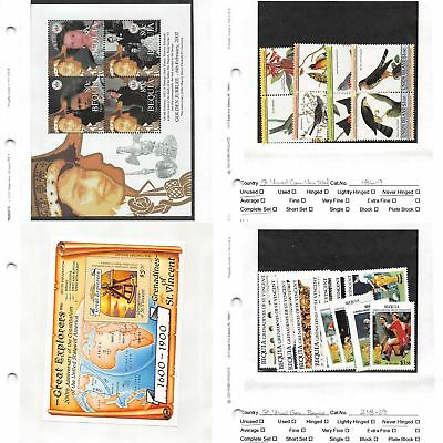 Lot of 93 St. Vincent MNH Mint Never Hinged Stamps #107526 X