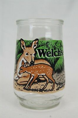 Welch's Wildlife Fund North American Collection #3 Key Deer Glass Jelly Jar
