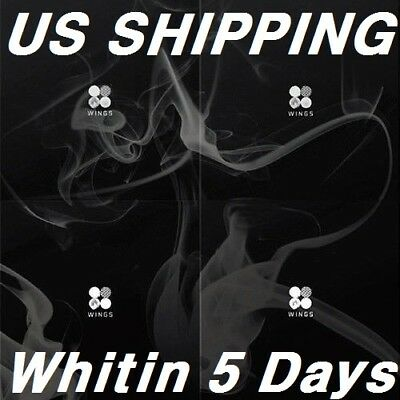 US SHIPPING BTS-[Wings}2nd Album Random CD+96p PhotoBook+1p PhotoCard+Store Gift