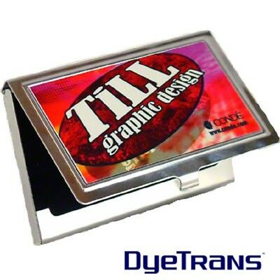 Do it Yourself DIY Try Sublimation Blank Stainless Steel Business Card Holder