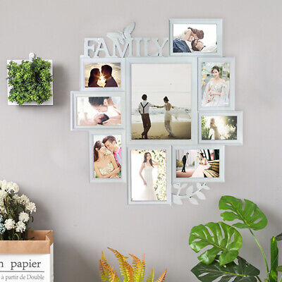 Multi Photoframe Family Love Friends Collage Picture Wall Photo Frame White