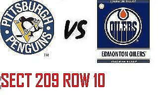 1-2 Tiks Edmonton Oilers Vs Pittsburgh Penguins Oct 23 Rogers Place Sect 209 R10