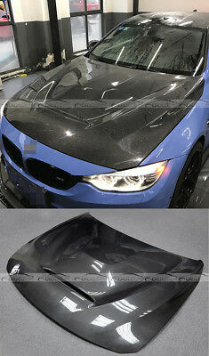 Carbon Double Side Bonnet Fit For BMW F80 M3 F82 F83 M4 GTS Style Hood 14-15