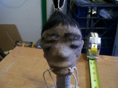 SHRUNKEN LEATHER HEAD with stand