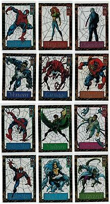 1994 Spider-Man Fleer Marvel Suspended Animation Complete 12 Card Insert Set