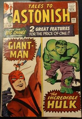 Tales to Astonish #60 VG/VG+ (Not CGC) *Giant-Man & Hulk Begin!* TAKING OFFERS!
