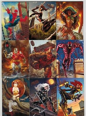2017 Spider Man Fleer Ultra Upper Deck Marvel Complete Card Set #1-100