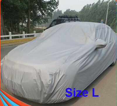 L Large Size Car Cover UV Resistance Anti Scratch Dust Dirt Full Protection