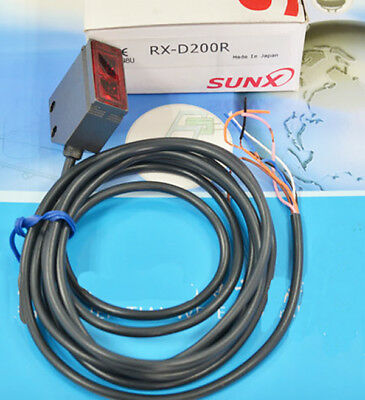 H● Sunx RX-D200R Robust Metal Enclosed DC Diffuse Photoelectric Sensor Red LED