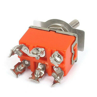 DPDT ON/ON 2 Positions 6 Screw Terminal Toggle Switch AC 250V 15A Popular