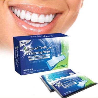28 Professional Advanced Teeth Whitening Strips Home Tooth Bleaching White Strip