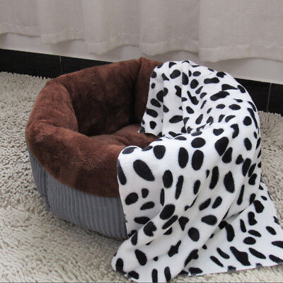Soft Corduroy Pet Dog Puppy Cat Kitten Round Warm Bed Home House Cozy Nest Mat