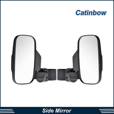 "Side View Mirror 1 1/2""-2"" Roll Cage Universal UTV Rear Impact Break Away Convex"