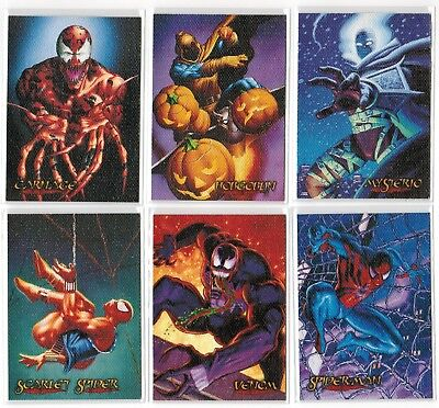 1996 Spider-Man Eternal Evil Fleer Ultra Marvel Canvas 6 Card Insert Chase Set