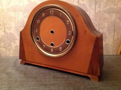 Antique Bentima Three Train Wood Clock Case for restoration repair Incl Chimes