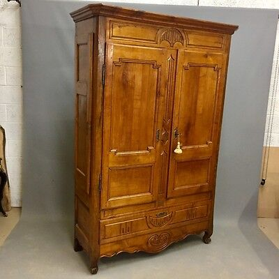 Unusual French Oak and Cherry Armoire    Ref  a1207