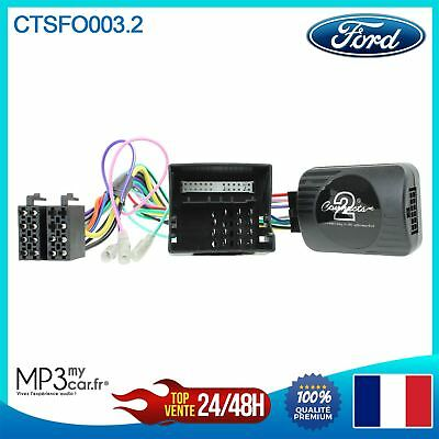 Interface commande au volant pour Ford C-Max, Fiesta, Focus, Fusion, Galaxy...