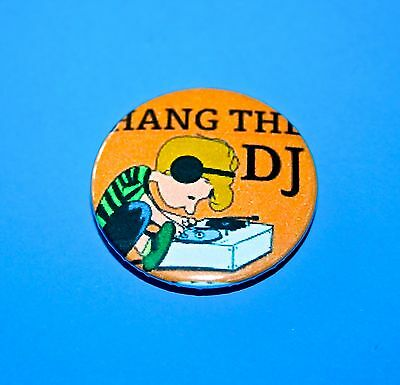 Vintage Style Peanuts Snoopy The Smiths Hang The Dj Button Pin Badge