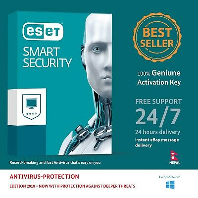 ESET Smart Security 2018,1 PC for 1 Year Nepal License Key in eBay Message