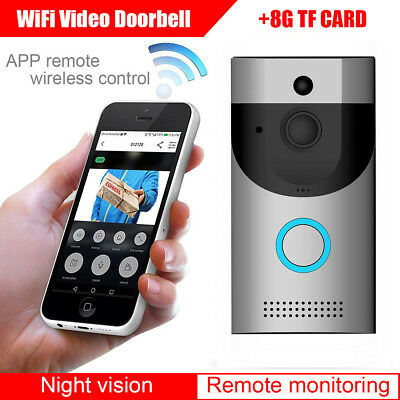 Wireless Video Smart Doorbell Camera PIR Motion Intercom Door Security DingDong