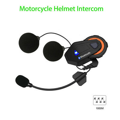 FreedConn T-MAX 2.4GHz Motorradfahrer Helm Headset Bluetooth Intercom 1500M