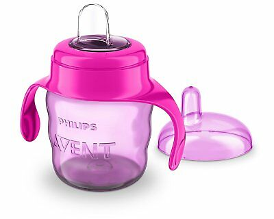 Avent Easy Sip Spout Cup with Handle 200 ml Pink/Purple Soft Silicone Spout