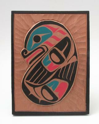 Signed Gordon Twance First Nations Northwest Coast Kwakiutl Seal Carving