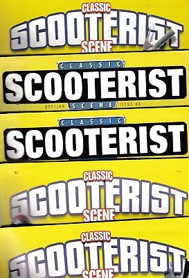 Various Issues of CLASSIC SCOOTERIST SCENE Magazine Spring 2003 to January 2014