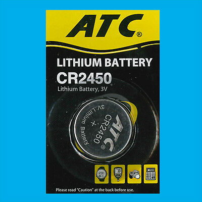 2x CR2450 3V Lithium Button Cell Battery Toys Medical Car Remotes Single-use