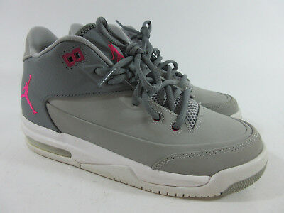 cd621aa8747 Nike Jordan Flight Origin 3 Gray Pink Basketball Shoes 820250-009 Youth  Size 4 Y