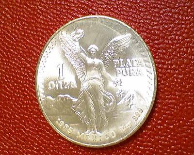 ***nice Silver Coin**1985 Mexico 1 Libertad .999 Silver Onza Choice Bu From Roll