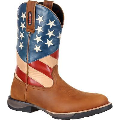 e011f4aa3e7 Rocky Men's Lt Western Boot Brown American Flag RKW0213