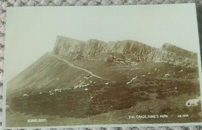 Vintage Scottish Postcard The Crags King's Park, Edinburgh