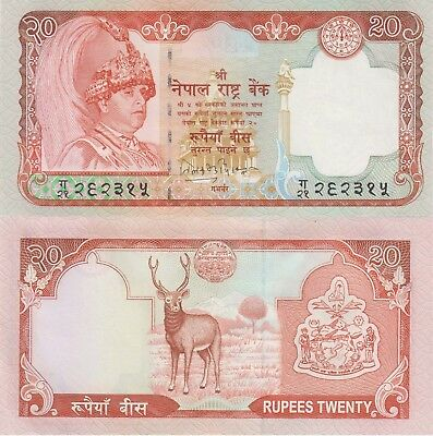 Nepal 20 Rupees (2002) - King/Stag/p47a UNC
