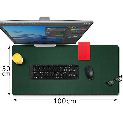 Extended Leather Gaming Mouse Mat,Large Office Writing Desk Leather Mat Mousepad