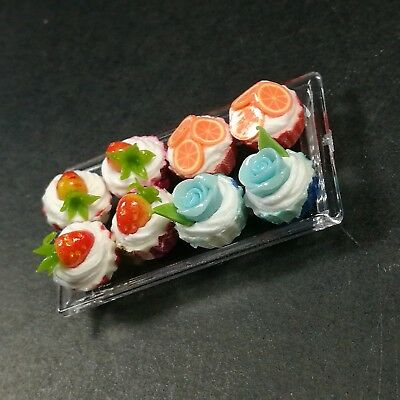 3Pcs Strawberry Cakes Miniature Food Models Dollhouse Accessories Pip BS$T