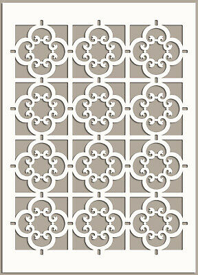Moroccan Pattern Stencil Template Card making Paint Furniture Wall Crafts TE89