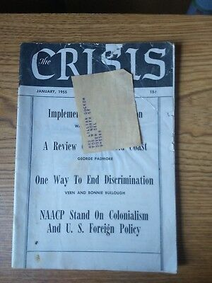 THE CRISIS: RECORD OF DARKER RACES NAACP MAGAZINE January 1955 CIVIL RIGHTS