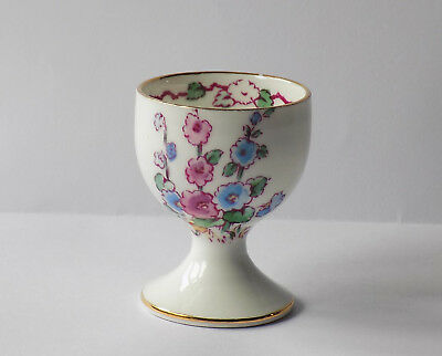 Art Deco Period, Crown Staffordshire, Hand Coloured Egg Cup.flowers,butterfly.