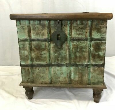 Antique Indian Wedding Trunk - Coffee Table blanket box -TV Stand- Furniture