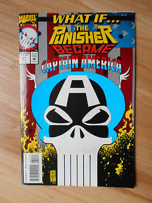 What If Punisher became Captain America? #51 Marvel Comics Jul 1993 NM