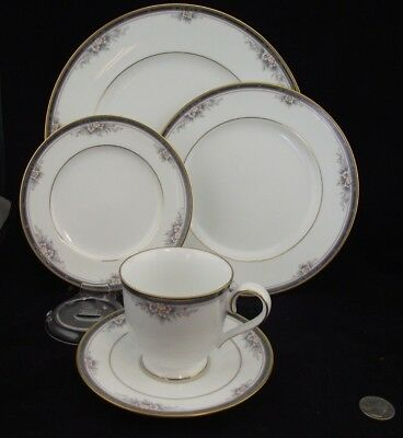 Noritake Ontario 5 Piece Plate Setting Dinner Salad Bnb And Teacup And Saucer ++