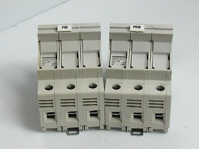 Lot Of 2 Siemens Fuse Holder 3Nw7031 10X38 32 Amp A 32A 3 Pole 3P 690V - Used